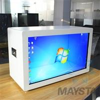 廣州定制批發43寸透明屏展示柜 展廳高透明度透明屏展柜 展廳展柜