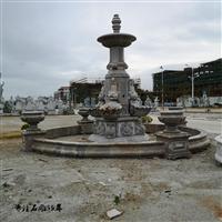 喷水池 石雕花钵批发 精美石雕喷水池 石花盆供应