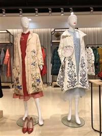 賺錢女裝品牌推薦 赫本佳人19冬中國風羽絨服 直播供應一手貨源