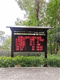 公园湿地负氧离子监测系统,大屏幕空气质量展示实时数据