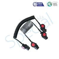 SC 七芯电缆线总成,挂车螺旋连接线