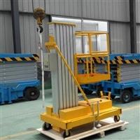 狭小空间适用单桅柱铝合金升降机