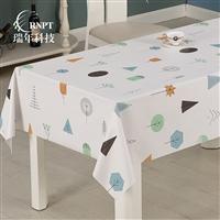 RNPT瑞年 供应印花台布家居餐桌布 防水桌布PVC塑料台布
