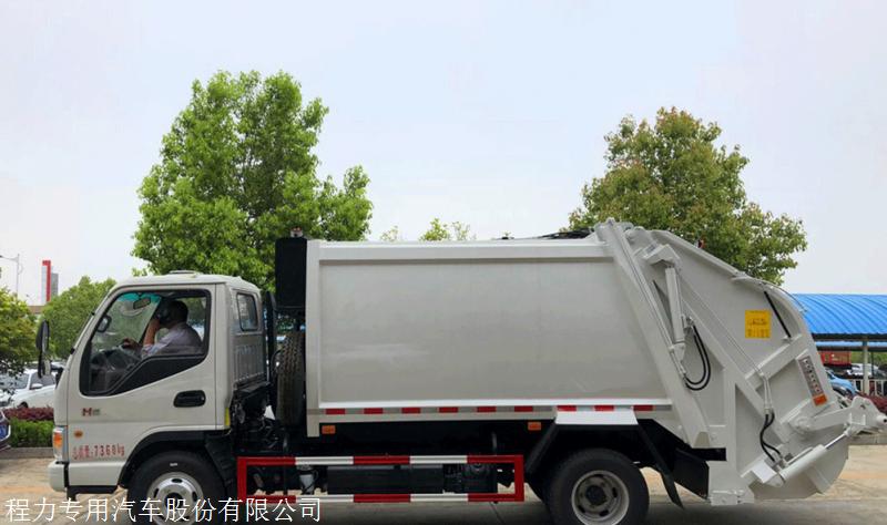 5方压缩式垃圾车 多利卡压缩式垃圾车