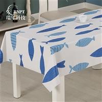 RNPT瑞年 厂家直销书桌餐桌茶几布 防水台布PVC塑料桌布
