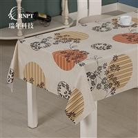 RNPT瑞年 厂家热销棉麻桌布印花茶几布 防水防油台布PVC餐桌布