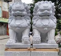 一對石獅子 花崗巖石雕獅子 大型動物雕刻 北京天安門獅子