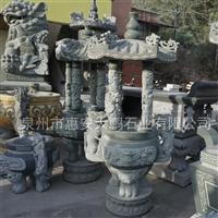 供應青石石雕香爐 質量保證 寺廟家祠古建墓地石雕燒香爐