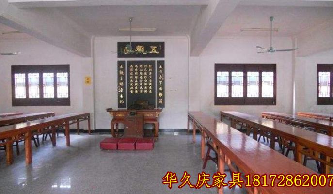 寺院斋堂五观堂桌子长凳过堂桌凳