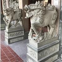 惠安石雕貔貅 麒麟加工 定制花崗巖 石雕麒麟擺件