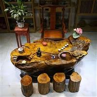 克拉瑪依 金絲楠木 茶桌根雕價格 啟航木業