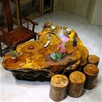 婁底 金絲楠材質好嗎 根雕茶桌代理價格 現貨供應