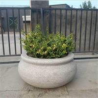 花崗巖石雕花缽訂做 園林石雕花盆訂做 惠安石雕廠家直銷