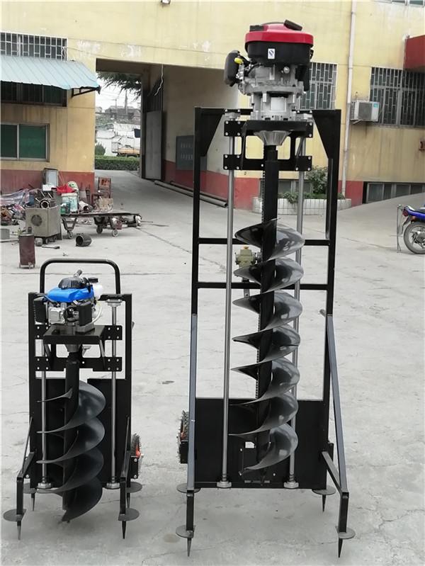 电线杆钻孔机新一代挖坑机械  带架子电杆打坑机栽深电杆