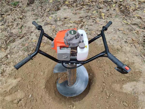 双人手扶打坑机栽种密集苗圃山坡地用小型种树工具打坑机大图