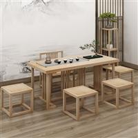 廣州 南美胡桃木茶桌價格 茶桌椅組合 新中式茶桌貴嗎