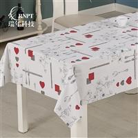RNPT瑞年 产销印花餐桌布棉麻桌布 防水台布PVC塑料桌布