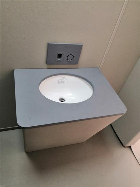 谈话室软包硅胶防撞洗手台