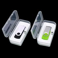 新诚USB盒U盘包装盒USB收纳盒PP塑料盒迷你小白盒EVA棉厂家可定制