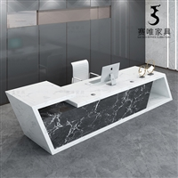 接待前台办公桌,烤漆前台接待台,各种尺寸丨颜色丨款式定制