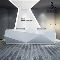 公司前台接待桌,前台定做,各种尺寸丨颜色丨款式厂家直销材质耐用