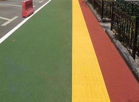 河北石家庄华欧HO59高速彩色路面 彩色弹性路面 彩砂路面