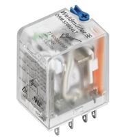 带灯24V带测试杆按钮4触点继电器DRM570024LT现货