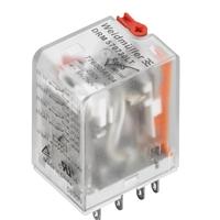 带灯4触点带测试杆220V中间继电器型号DRM570730LT现货