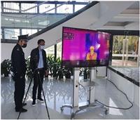 飞机场红外线人体测温仪,热成像自动测温报警系统