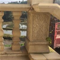 四川天然砂岩罗马柱 浮雕雕塑厂家 花瓶柱别墅阳台