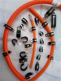 供应上海金山区304不锈钢材质R型金属管夹R型不锈钢半包线夹