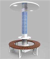 1813高鐵站智能充電椅 高鐵站多功能椅 高鐵站戶外休閑座椅