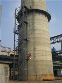 混凝土烟囱井字梯平台安装