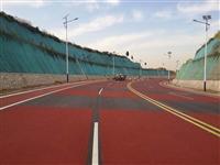 眉�h城市�G道彩色防滑路面材料
