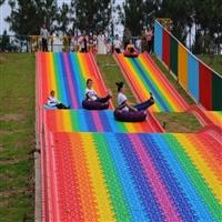 彩虹滑道XXB的坡道設計 七彩滑道生產廠家 田園綜合體整體規劃