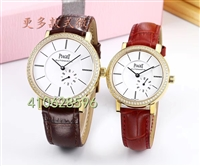品牌手表两针半机械男表