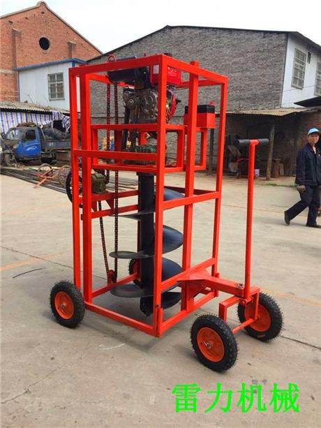 新型多功能轻便式钻坑机大用途