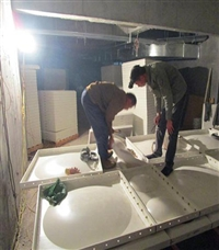 浙江组合式玻璃ξ钢水箱 组合式水箱的安装方法smc水箱的使用年限
