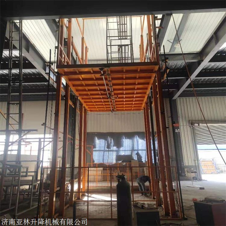 亚林供应南宁12米升降机厂家 大吨位升降平台价格 升降货梯定制