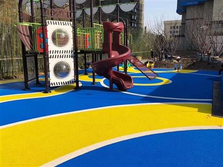 公园彩色塑胶地坪