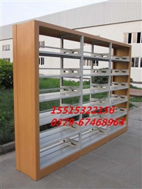 钢制木护板书架价格 双面书架厂家 图书馆双面书架定制