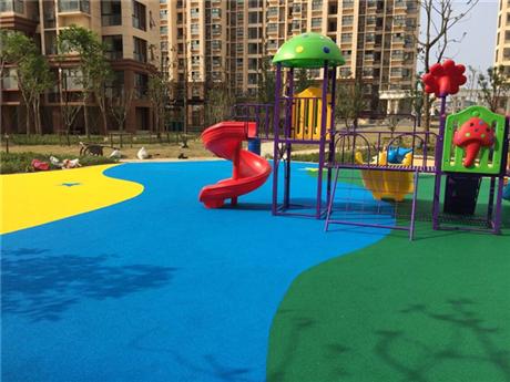 公园EPDM塑胶地坪施工