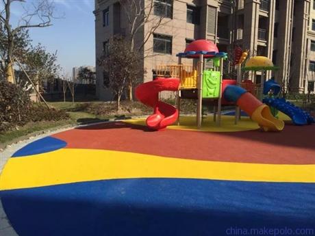 彩色EPDM塑胶地坪施工