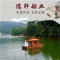 木船廠家定做老式木船電動船采購