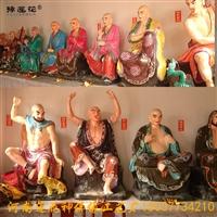 十八羅漢佛像圖片 站像金色釋迦摩尼佛佛像 十八伽藍佛像雕塑廠