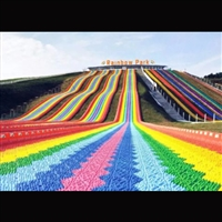 彩虹滑道定制 濟寧金耀旱地滑道XXB 小區廣場