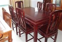 寧波市老式家具回收  八仙桌回收