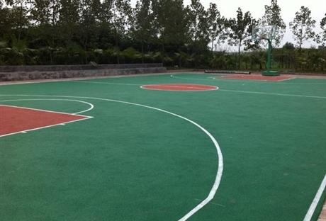 经久耐用EPDM塑胶篮球场施工