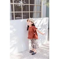 短袖套裝 艾米麗品牌童裝兒童服裝貨源 愛尚童 新款無袖套裝