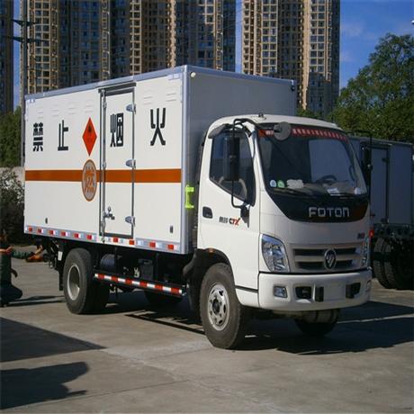 泉州液化气瓶运输车,5吨易燃气体厢式运输车价格,湖北虹昌达